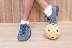 Takraw ball sport of Thailand. Stock Images