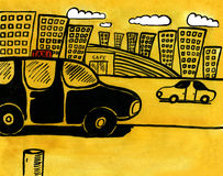 taksówka miasta Obrazy Royalty Free