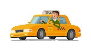 Taksówkarza pojęcie Samochód, transport, transport, przeniesienie symbol lub ikona, również zwrócić corel ilustracji wektora royalty ilustracja