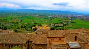 Taksikt av Assisi Arkivfoton