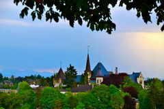Taksikt av Bern Arkivfoton