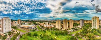 Taksikt av Ribeirao Preto - SP, Brasilien royaltyfri fotografi