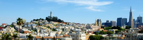 Taksikt av San Francisco Fotografering för Bildbyråer