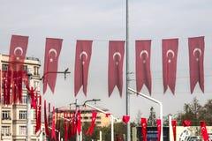 Taksim fyrkant i Istanbul, Turkiet Fotografering för Bildbyråer