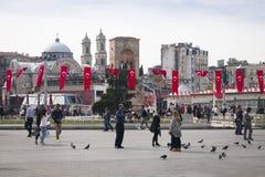 Taksim fyrkant i Istanbul, Turkiet Royaltyfri Bild