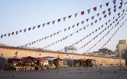 Taksim fyrkantmarknad Arkivfoto