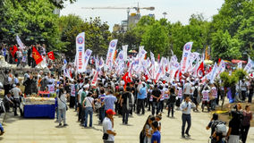 Taksim Gezi Park project change response actions. Stock Image