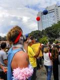 Taksim Gezi Park protest the animators and clown show. Stock Photo