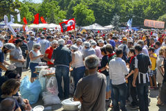Taksim Gezi Park protest free food distribution in the area,  e Royalty Free Stock Photos