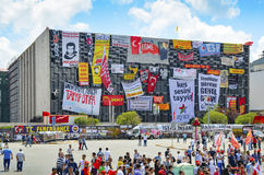 Taksim Gezi Park protests and Events. It has started action agai Stock Photos