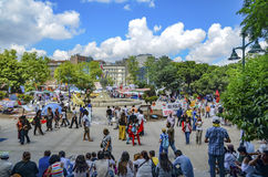 Taksim Gezi Park protests and Events. It has started action agai Royalty Free Stock Image