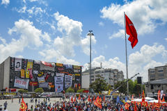Taksim Gezi Park protests and Events. Istanbul, Turkey - June 9, 2013: A wave of demonstrations and civil unrest in Turkey began on 28 May 2013, initially to Stock Images