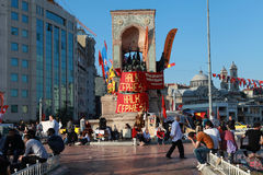 TAKSIM GEZI PARK RESISTANCE, ISTANBUL. TAKSIM, TURKEY- JUNE 9:  The resistance, which started in May 27 in Taksim, İstanbul against Taksim Gezi Park's Stock Photos