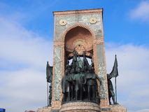 Taksim Independence Monument. Close up of Independence monument in Taksim, Istanbul, Turkey Stock Photos