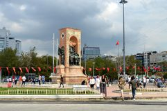 Taksim Istambul Turquia outono Antes da chuva Fotografia de Stock Royalty Free
