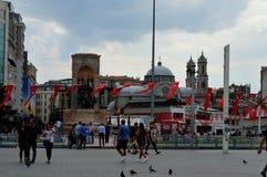 Taksim Istambul Turquia outono Antes da chuva Fotografia de Stock