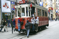 Taksim Istanbul tram Stock Photos