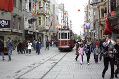Taksim Istanbul tram Stock Image