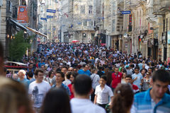 Taksim Istiklal Street Royalty Free Stock Photography