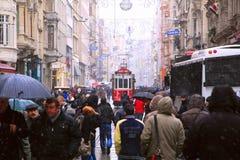 Taksim-Istiklal Street in Istanbul Stock Photo