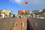 Taksim Metro Exit Royalty Free Stock Photos