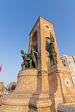 Taksim Monument of the Republic. Istanbul Stock Image