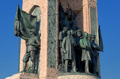 Taksim Monument of the Turkish Republic Stock Images