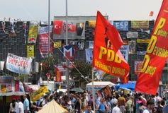 Taksim protester Royaltyfri Foto