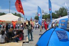 Taksim protester för demokrati Arkivbilder