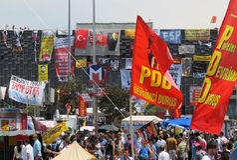 Taksim Protests Royalty Free Stock Photo