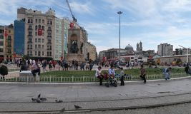 Taksim-Quadrat in Istanbul, die Türkei Lizenzfreies Stockbild