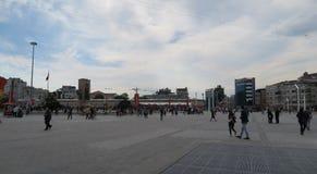 Taksim-Quadrat in Istanbul, die Türkei Lizenzfreies Stockfoto