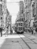 Taksim quarter. In Taksim quarter in Istanbul, you can do some shopping, eat in good restaurants and take old little tramway Stock Photos