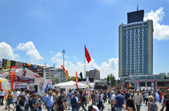 Taksim Square. Building seen in the background The Marmara Taksi Royalty Free Stock Photography