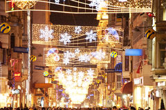 Taksim square decorated for new year Istanbul  Turkey Stock Photo