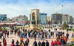 Taksim square in Istanbul, Turkey Royalty Free Stock Photos