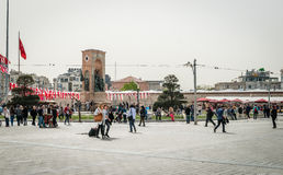 Taksim square in Istanbul, Turkey Royalty Free Stock Photo