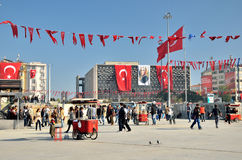 Taksim square in Istanbul, Turkey Stock Photography