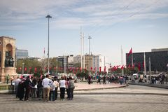 Taksim square in Istanbul, Turkey Stock Photos