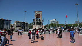 Taksim Square in Istanbul, Turkey stock footage