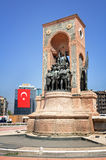 Taksim Square. Monument of independence at Taksim Square in Istanbul Turkey Stock Photos