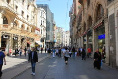 Istanbul, Turkey Taksim street royalty free stock photo