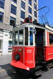 Taksim street tramway in Istanbul, Turkey Royalty Free Stock Images
