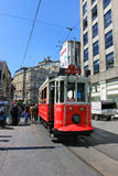 Taksim street tramway in Istanbul, Turkey Stock Images
