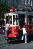 Taksim-Tram Istanbul die Türkei lizenzfreie stockfotografie