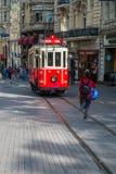 Taksim tram, Istanbul Stock Photo