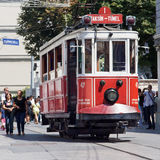 Taksim Tunel historic tramway. In Istanbul, Turkey Royalty Free Stock Photos