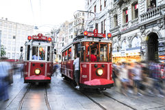 Taksim Tunel historic tramway Stock Images