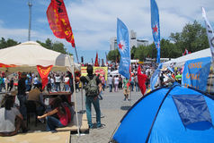 Taksimprotesten voor democratie Stock Afbeeldingen