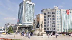 Taksimvierkant, Istanboel, Turkije Stock Foto's